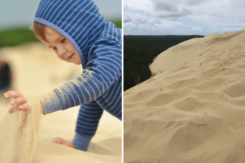 Climbing europe's largest dune. Dune du Pilat, Dune du Pyla. France