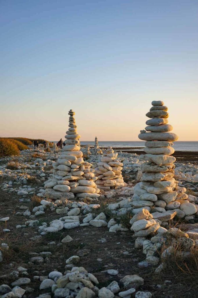 Rock art on oleron island, france
