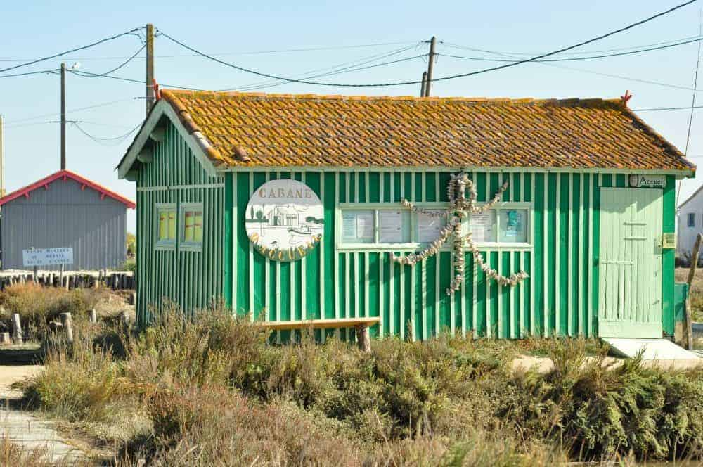 Oyster cabins on the ile d oleron, France