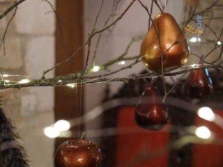Inside the Chateau de Crazannes at Christmas