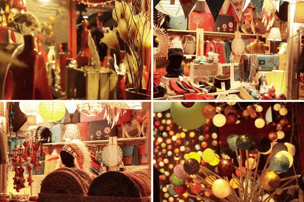 Stalls at the Nantes Christmas Market, France