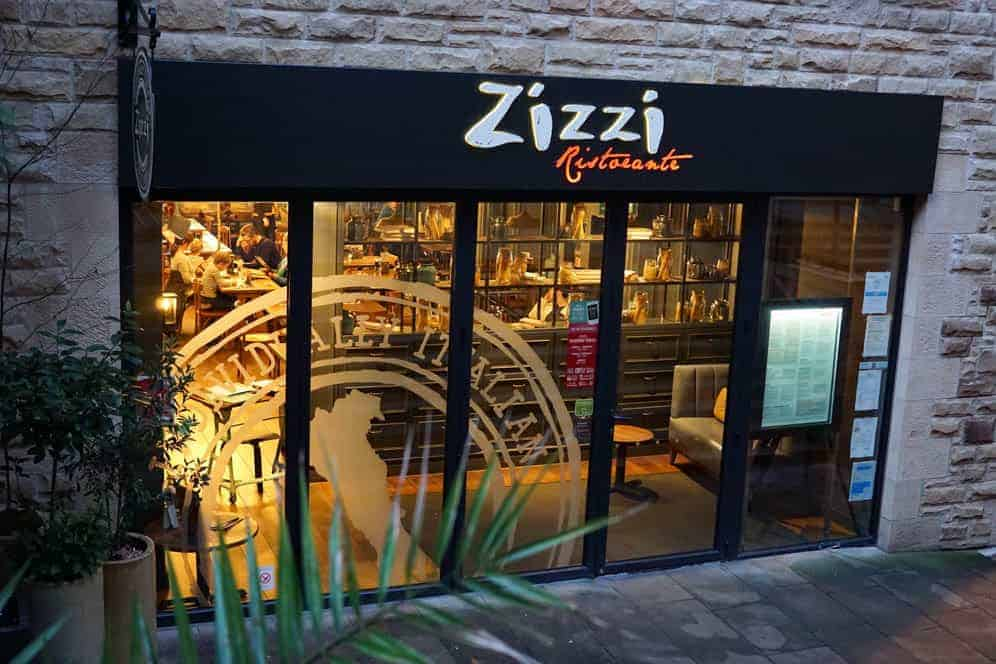 Zizzi's Italian restaurant in Edinburgh