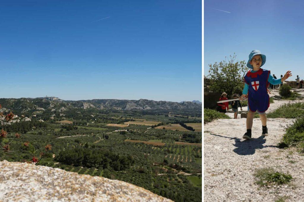 Kids activities in Provence, France. Chateau des Baux, Les Baux de Provence