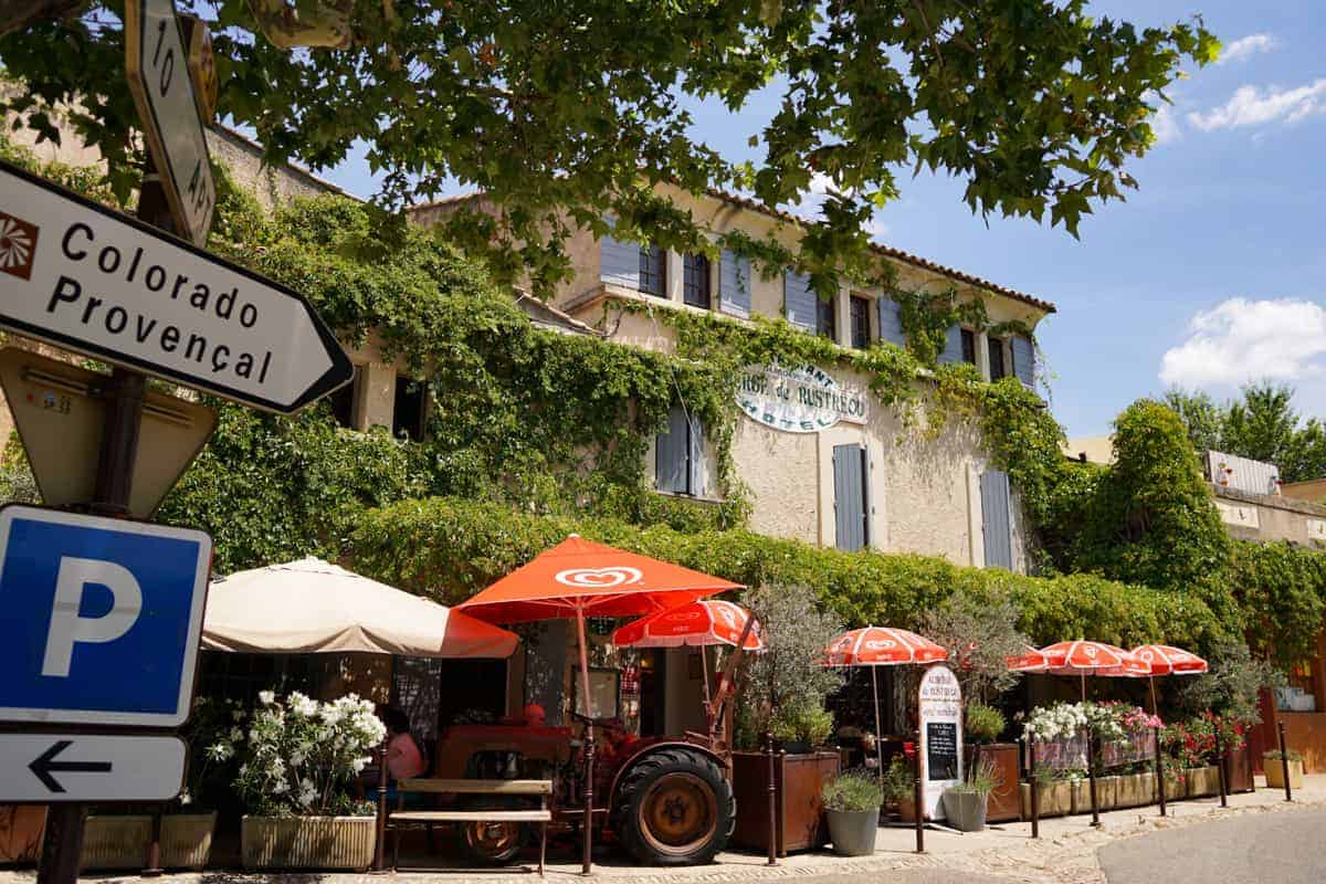 Where to eat in Rustrel, Provence.