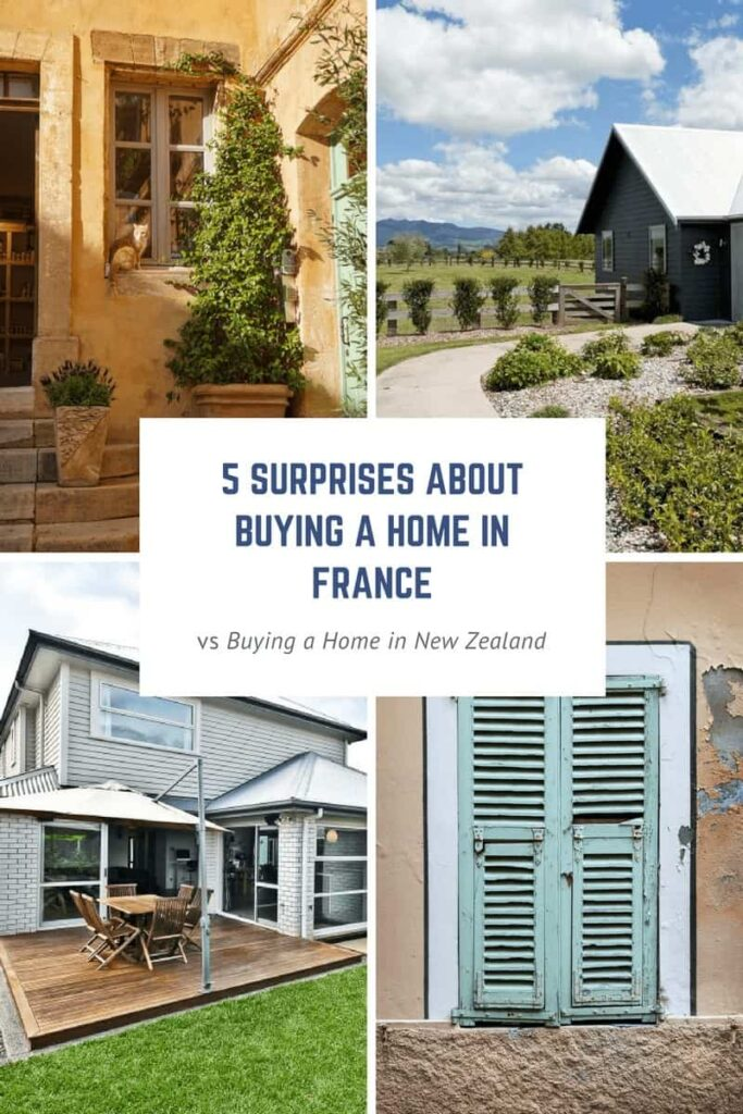 Thinking about buying a home in France? As fun as it can be to search for a home in France, there are a few speedbumps along the way! Read 5 surprises about buying a home in France vs buying a house in New Zealand!