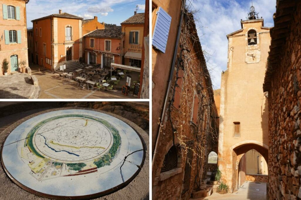 Attractions in Roussillon en Provence, one of France's most beautiful villages. Les Plus Beaux villages de France