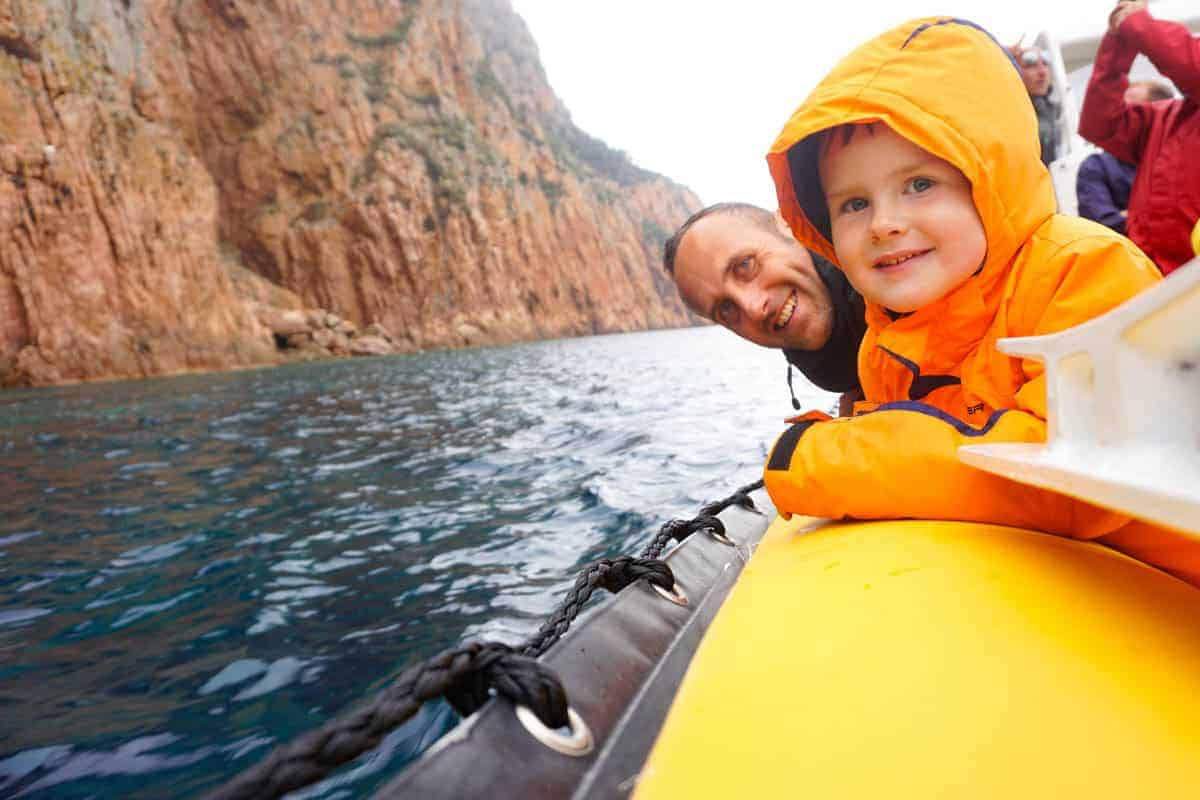 Corsica with Kids. Boat trip with Corse Emotion.