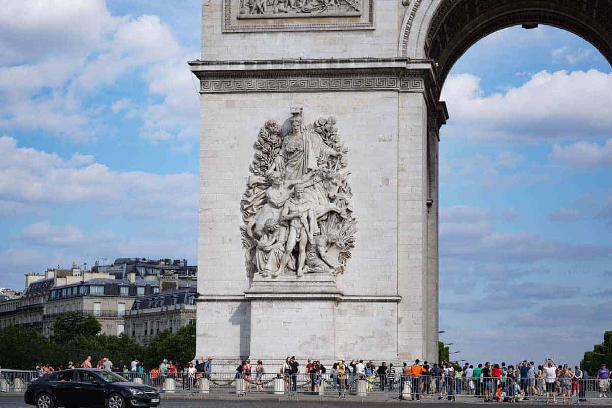 Arc de Triomphe in Paris. Paris walking tour.