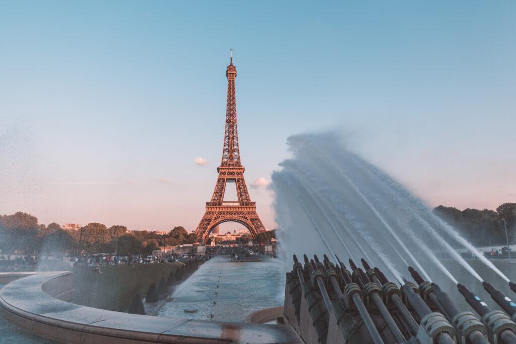 Trocadéro Gradens in Paris, France
