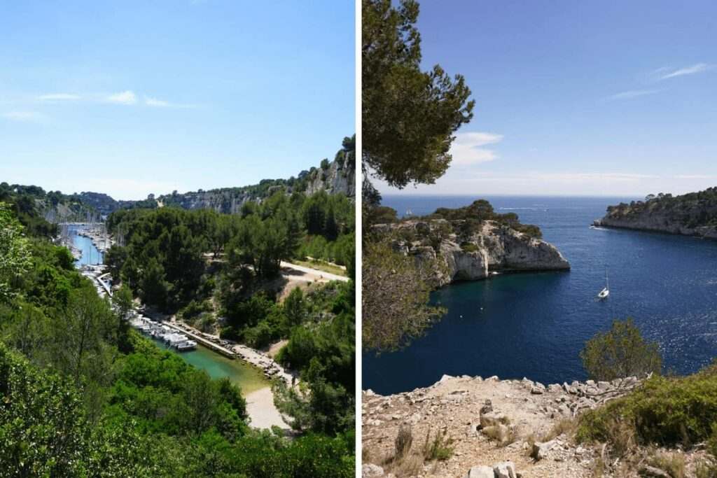 Calanque de Port Miou. The three calanques walk in Provence, France