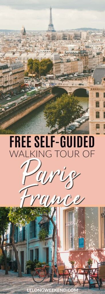If you only have one day in Paris France, a self-guided walking tour can be a great way to see some of the best sights. We've created a free self-guided walking tour of Paris just for you! Walking tour of Paris | Paris Walking Tour | Free Paris Tour | One Day in Paris France | #paris #france #walking #tour