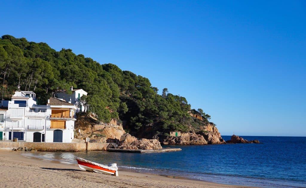 Costa Brava in Winter. Winter sun Spain
