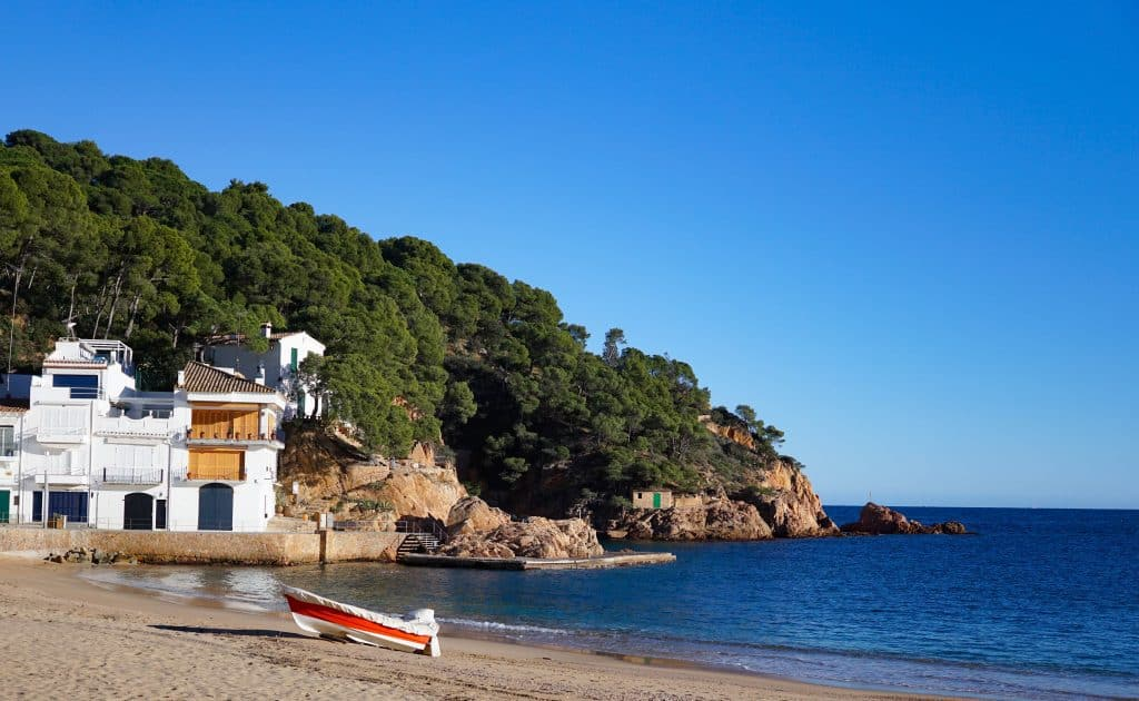 Tamariu Beach near Barcelona, Spain