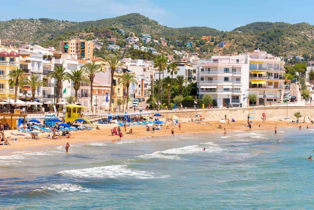Sitges is a lovely coastal town near Barcelona Spain