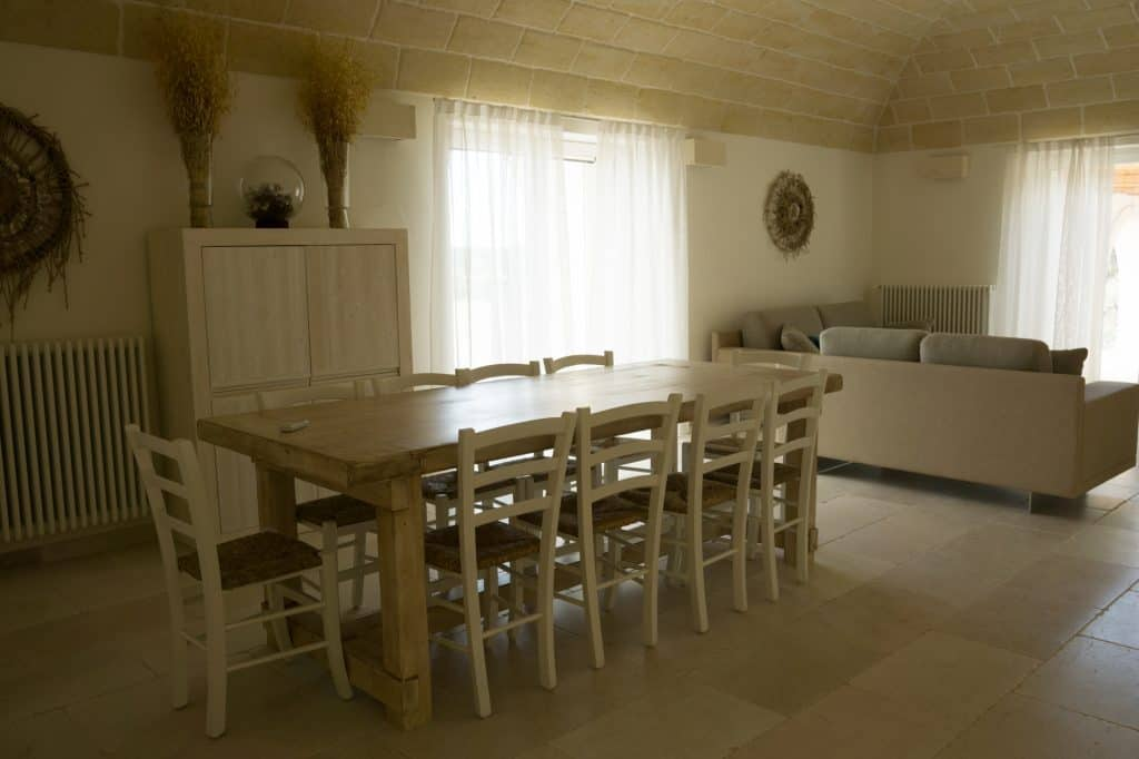Large group accommodation in Puglia.