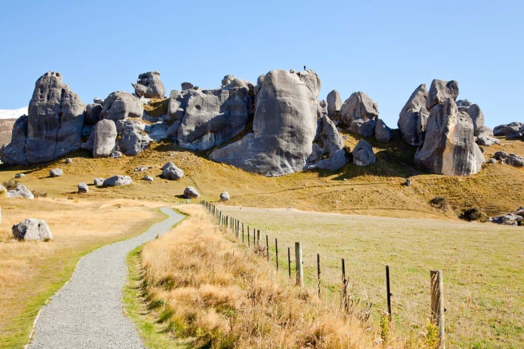 Castle Hill near Christchurch is one of the best things to do in New Zealand South Island