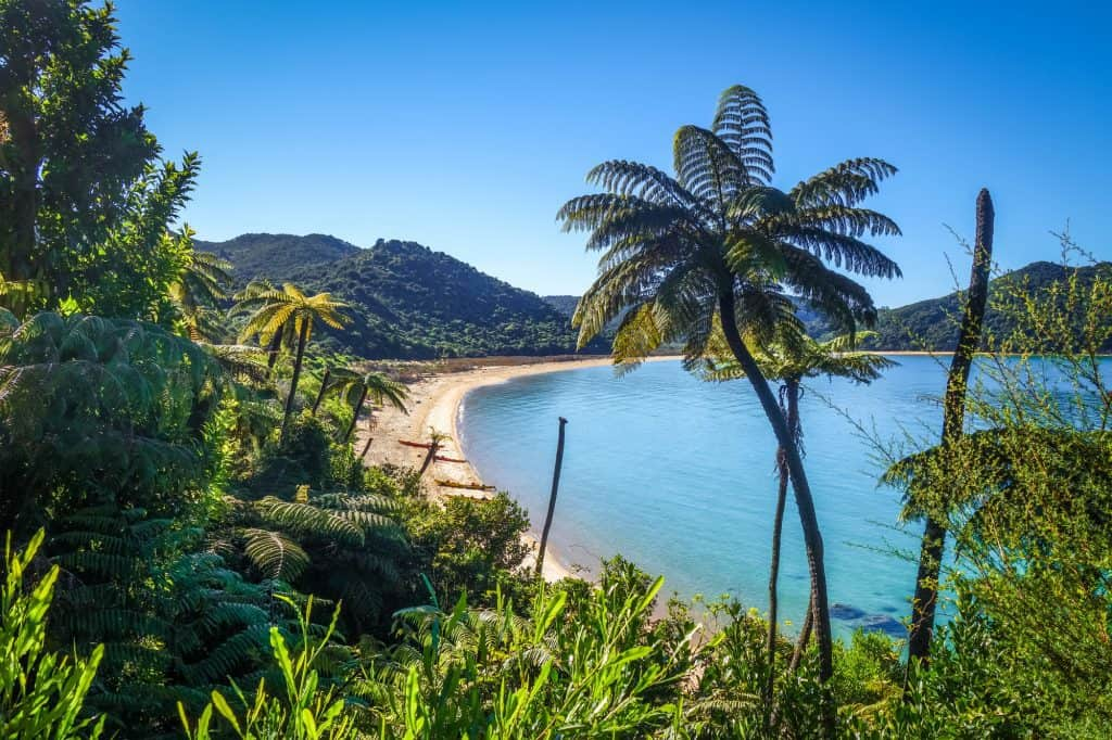 Abel Tasman National Park, one of the best places to visit in New Zealand