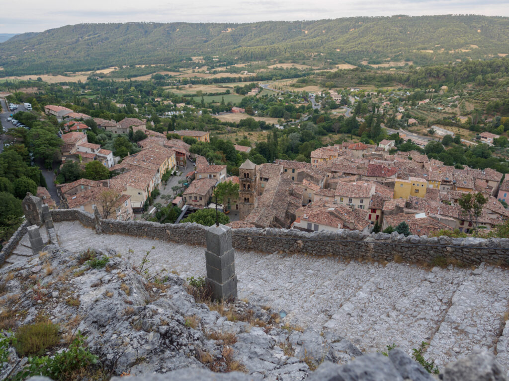 Moustiers-Sainte-Marie village in Provence, France