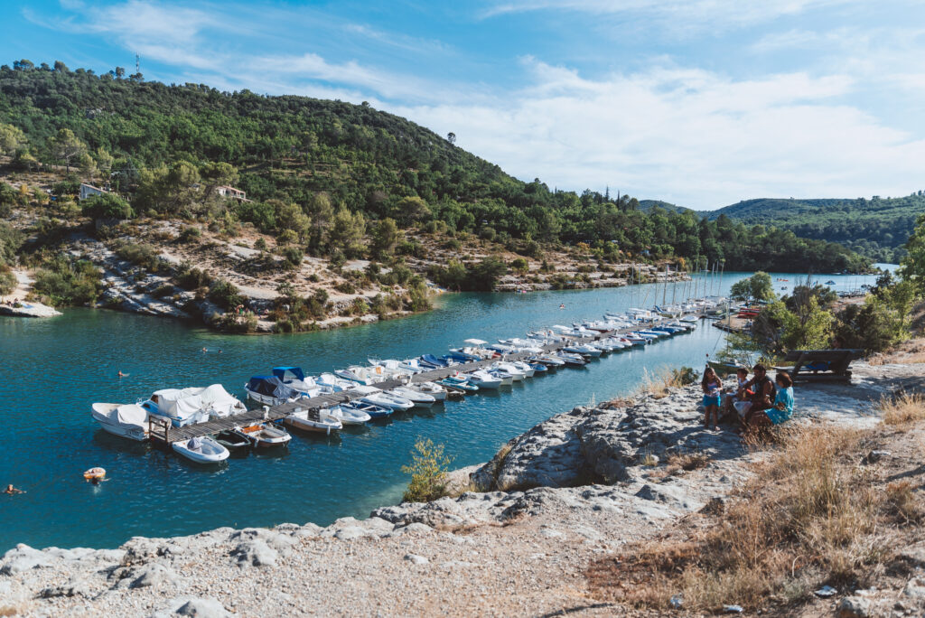 Esparron Lake in Provence