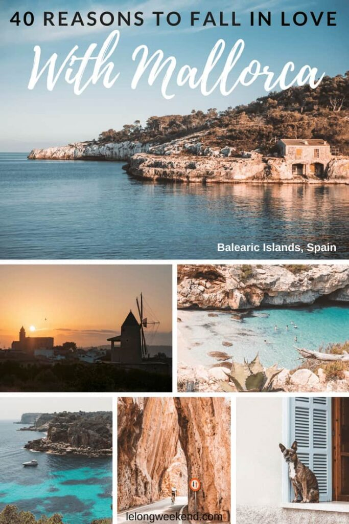 40 Reasons to fall in love with Mallorca, Spain. From the picture-perfect beaches to the dramatic scenery, this collection of stunning photos will have you booking a holiday in Mallorca asap!
