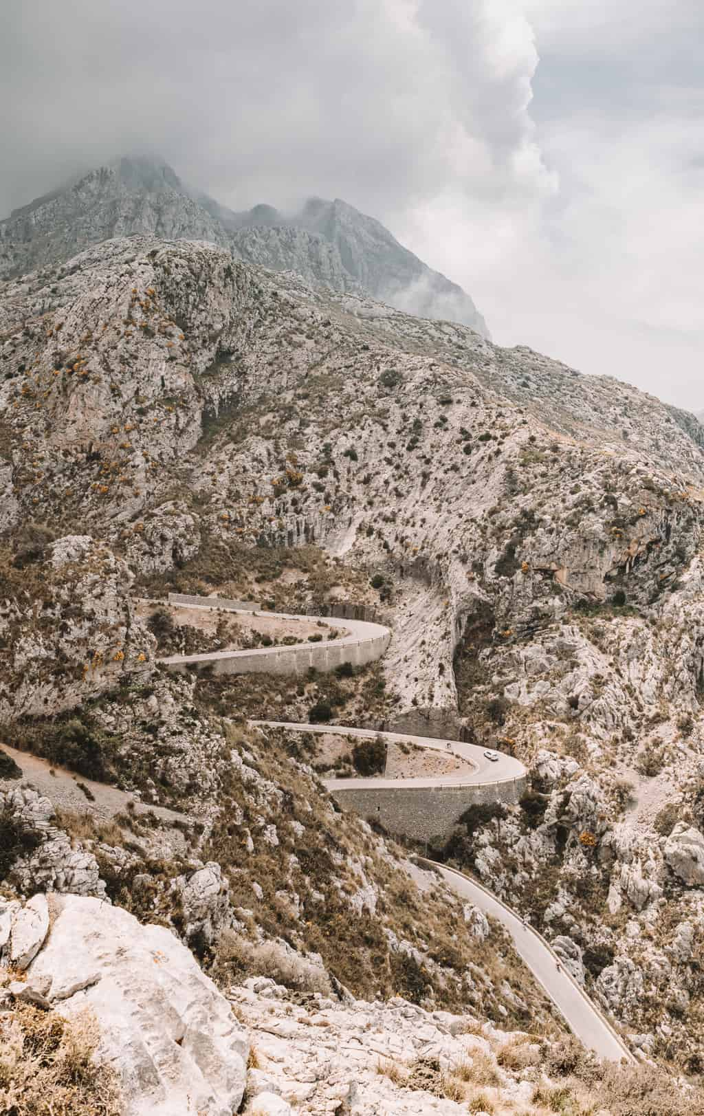 Road to sa calobra beach in Mallorca
