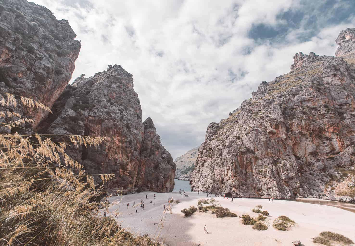 Sa Calobra beach in Mallorca