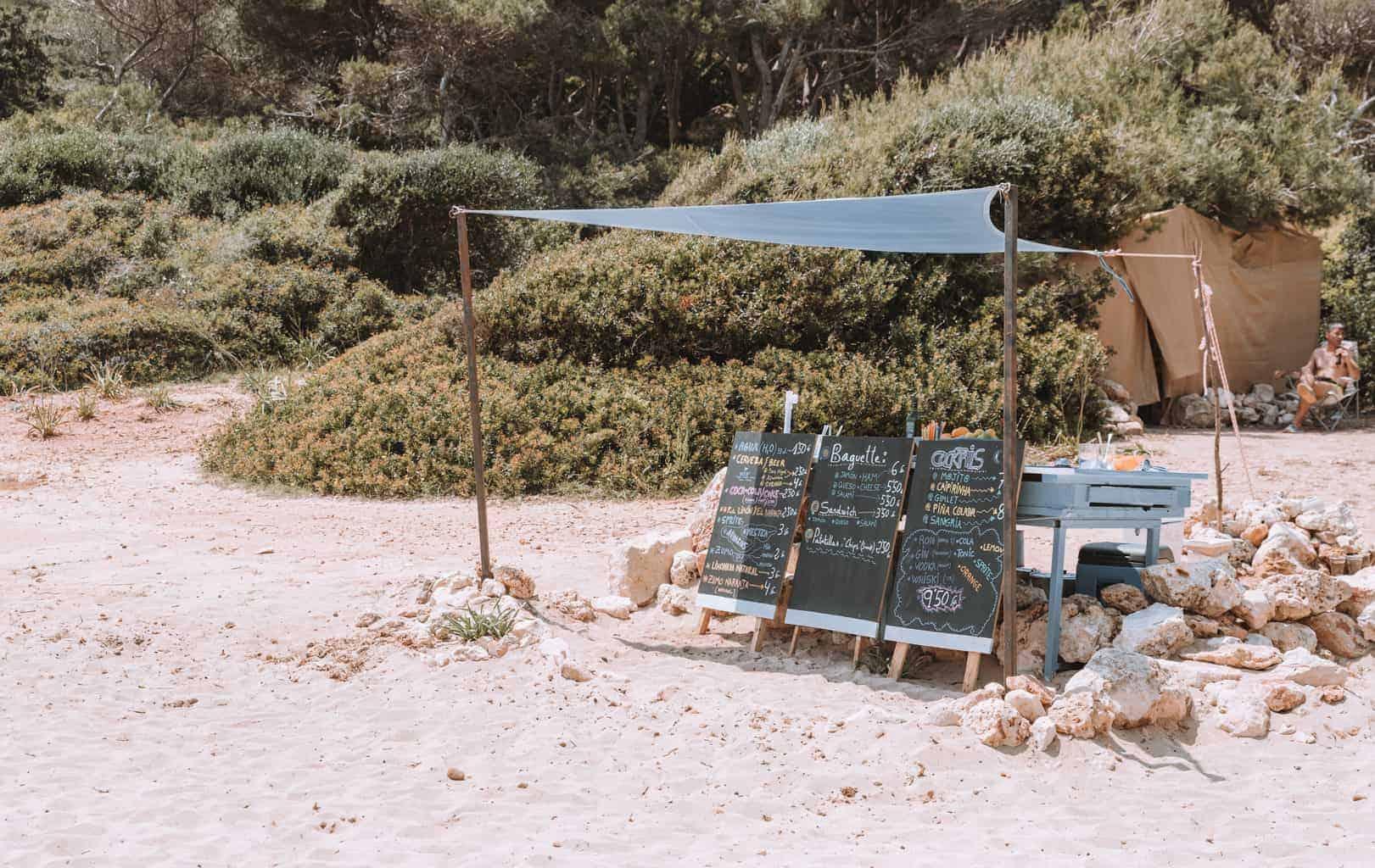 Beach bar in Mallorca, Spain