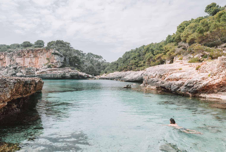 Man swimming in Mallorca