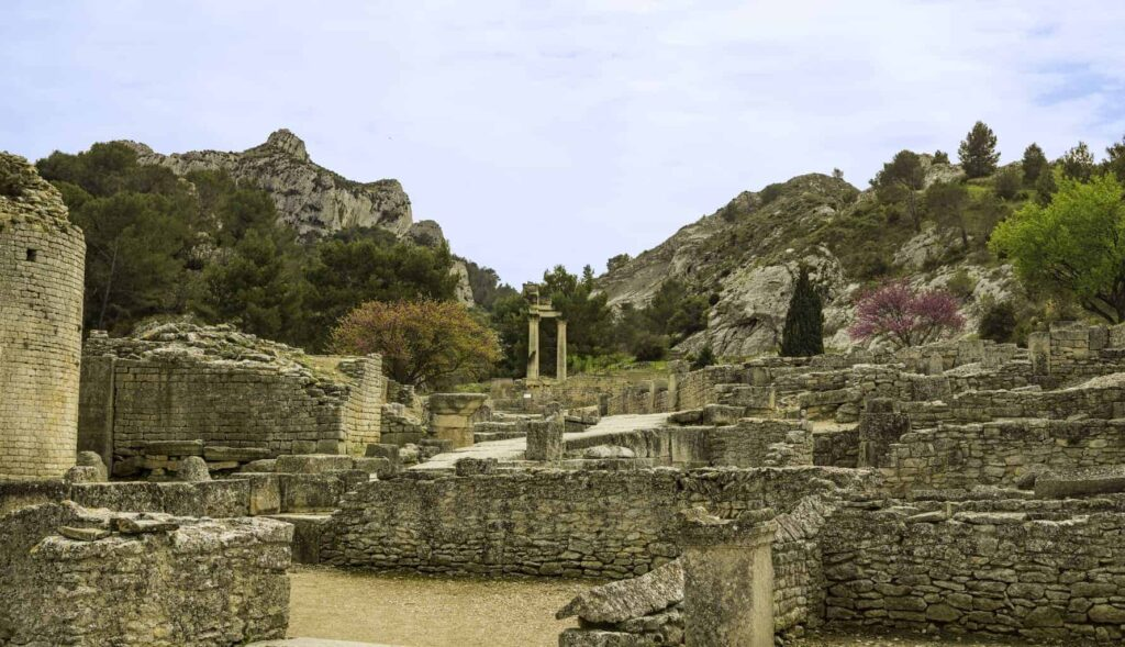 Glanum near Saint-Remy-de-Provence is a great place to visit on your southern France itinerary.