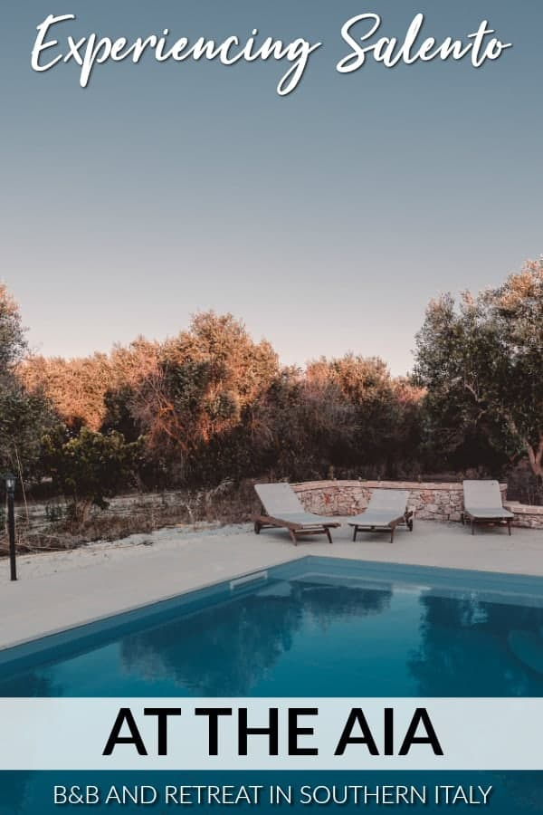 If you're looking for the perfect place to stay in Puglia, Italy, look no further. At The Aia is an affordable B&B and retreat centre in the heart of Salento. Read our review of this accommodation in Puglia here. #italy #puglia #salento #retreat #yoga