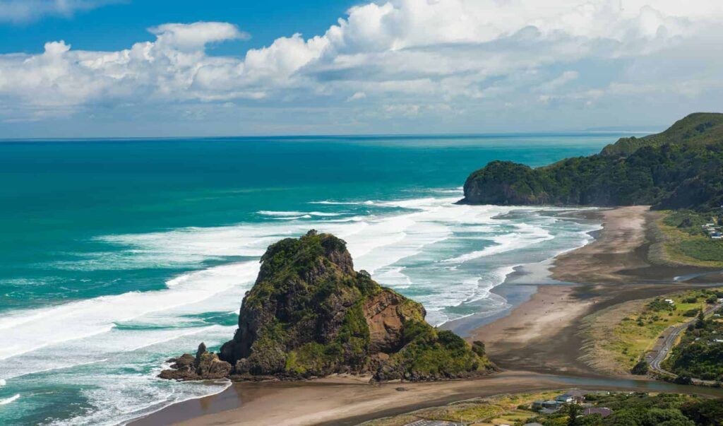 Piha beach near Auckland is one of New Zealand's best beaches