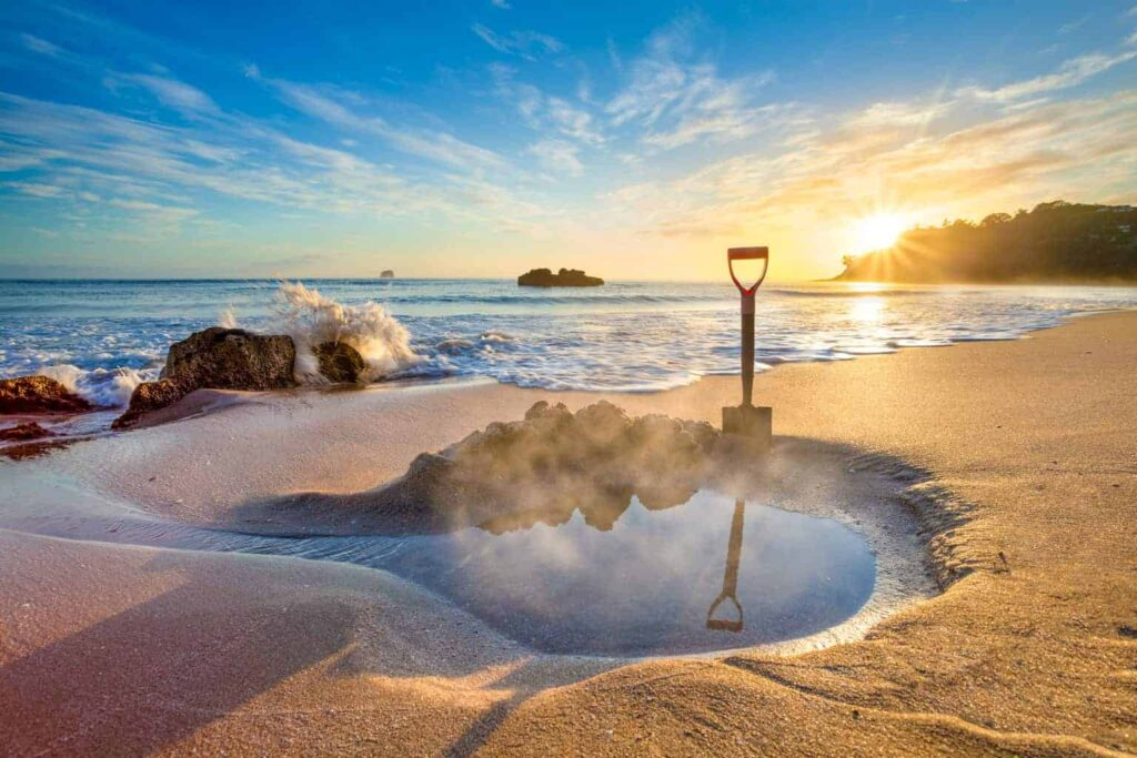 Hot Water Beach on the Coromandel Peninsula is one of the best beaches in New Zealand