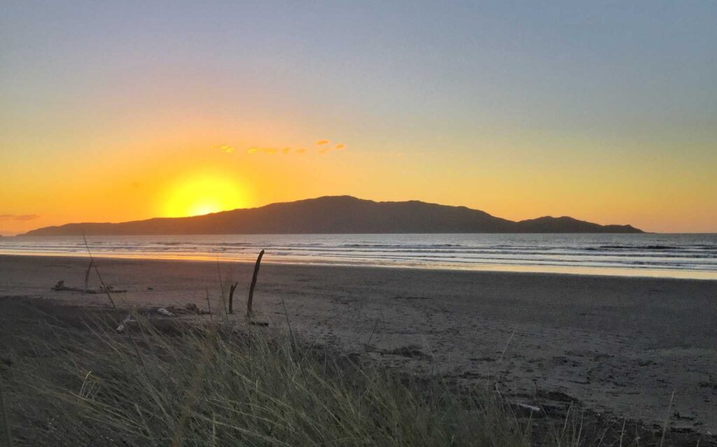 Waikanae beach sunset.