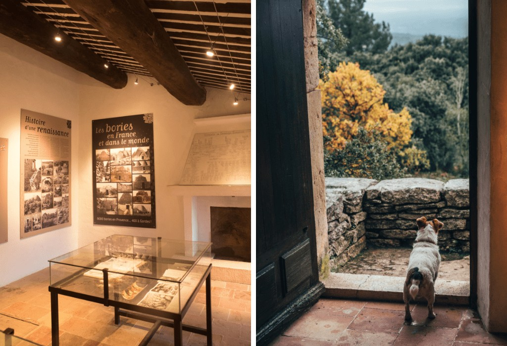 Onsite museum at the Village des Bories, Provence, France