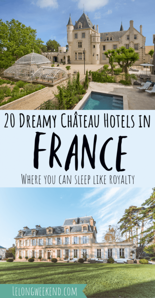 Dreaming of booking a château holiday in France? We have you covered with the most beautiful castle hotels in France. #france #castle #chateau #frenchcastles