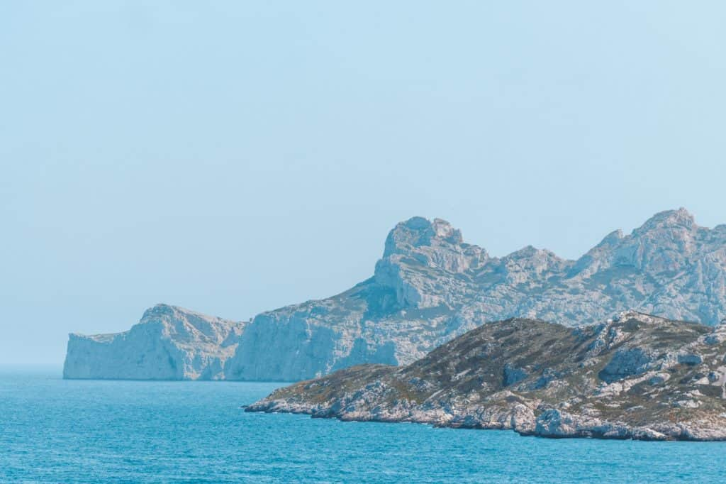 Île de Jarre off the coast of Les Goudes, Marseille