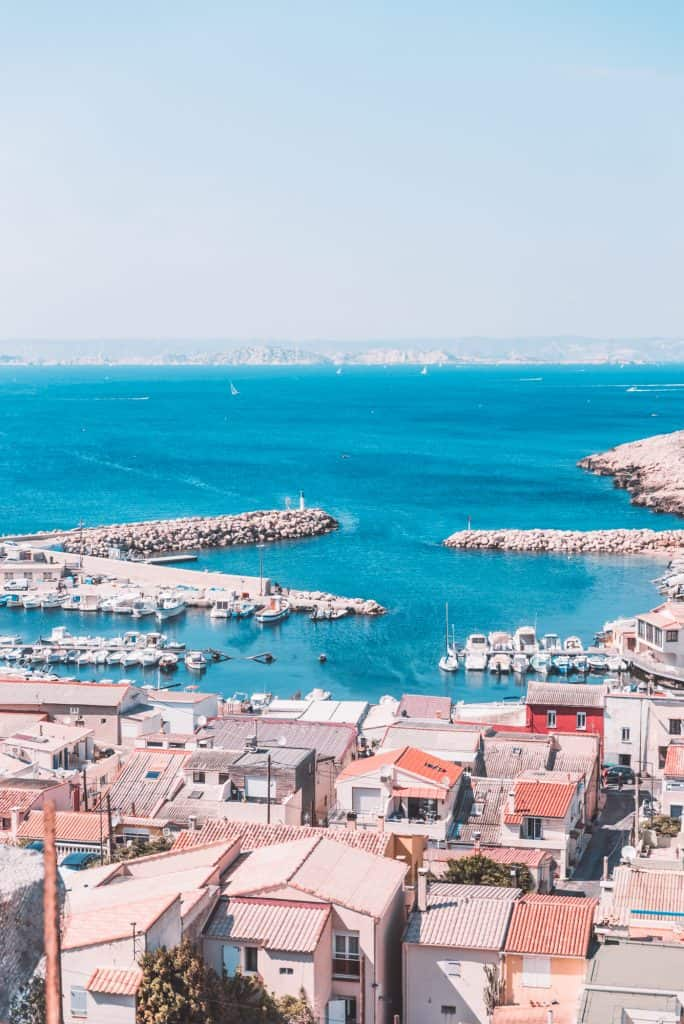 The village of Les Goudes near Marseille, France.