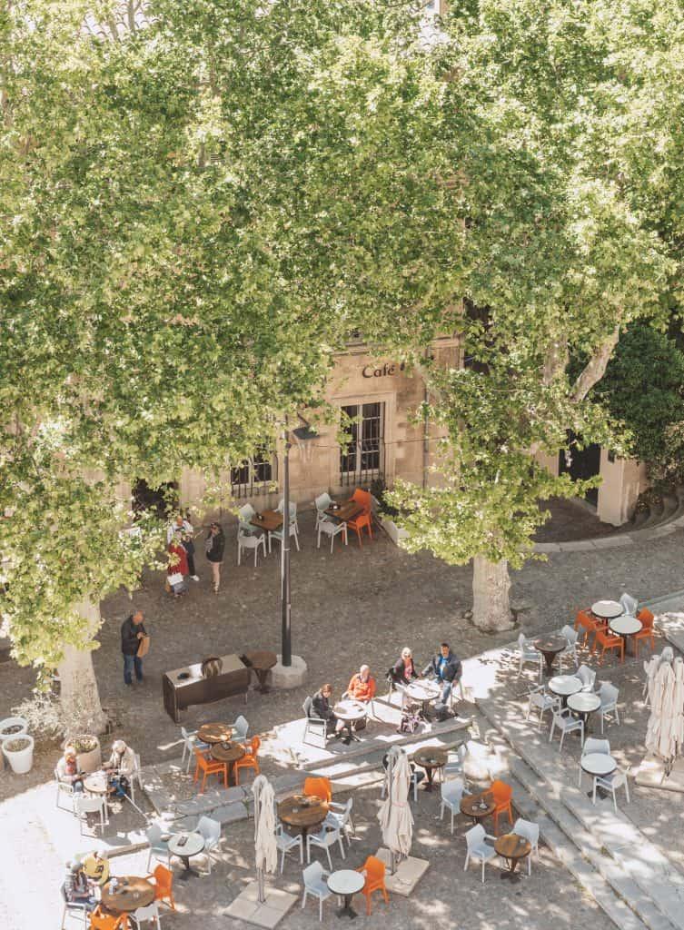 French cafe in Avignon, France