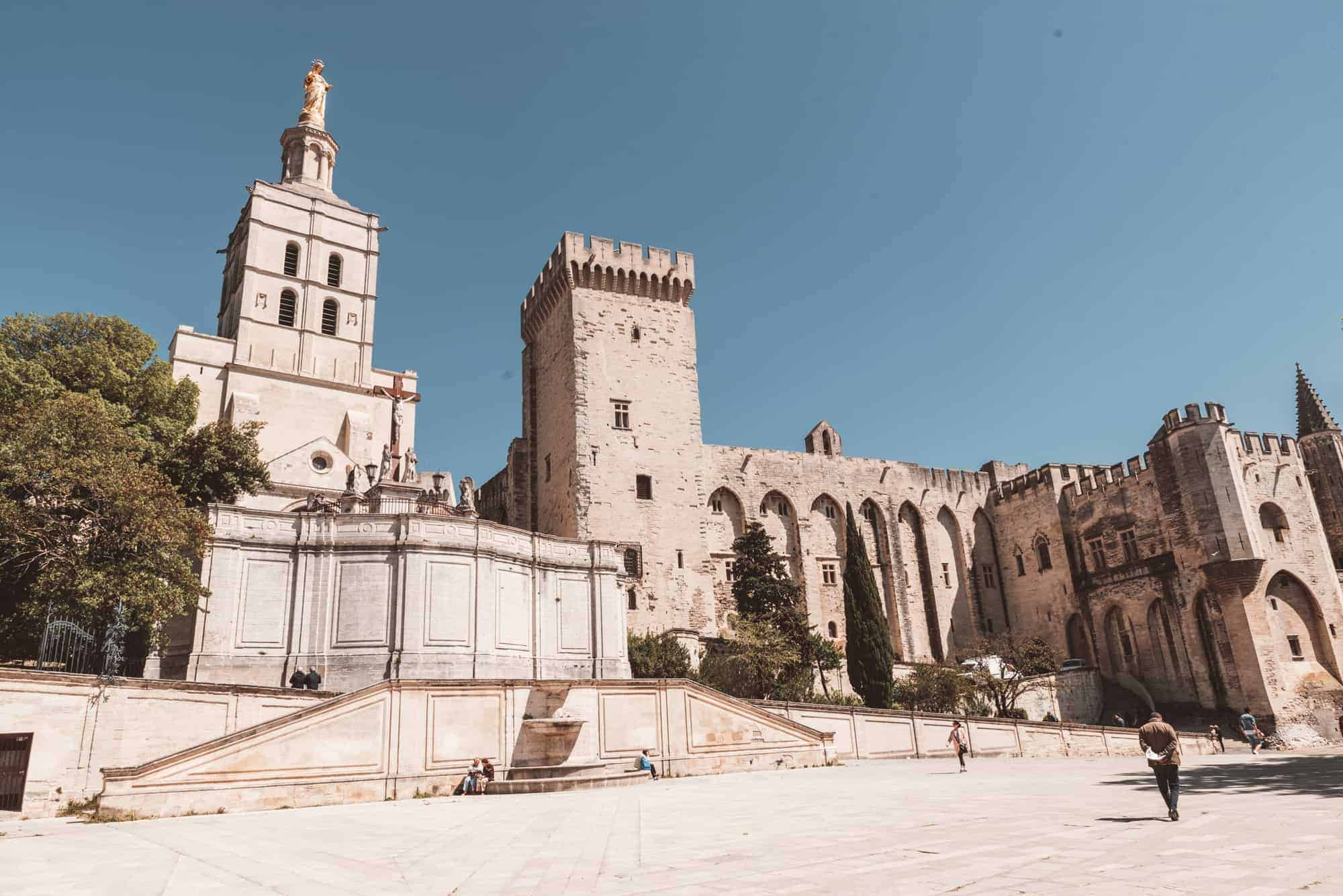Popes Palace in Avignon, France
