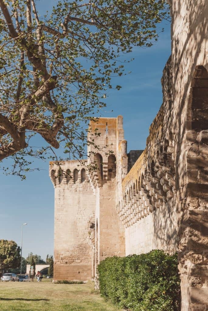 Avignon's old city walls.