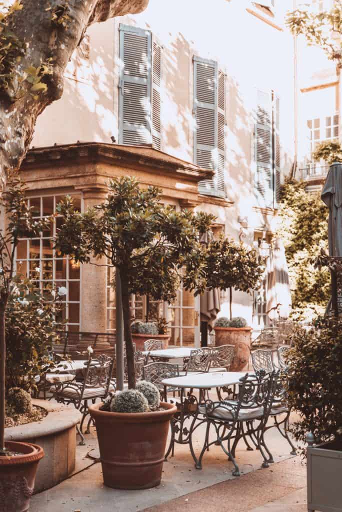 Cafe terrace in Avignon, France