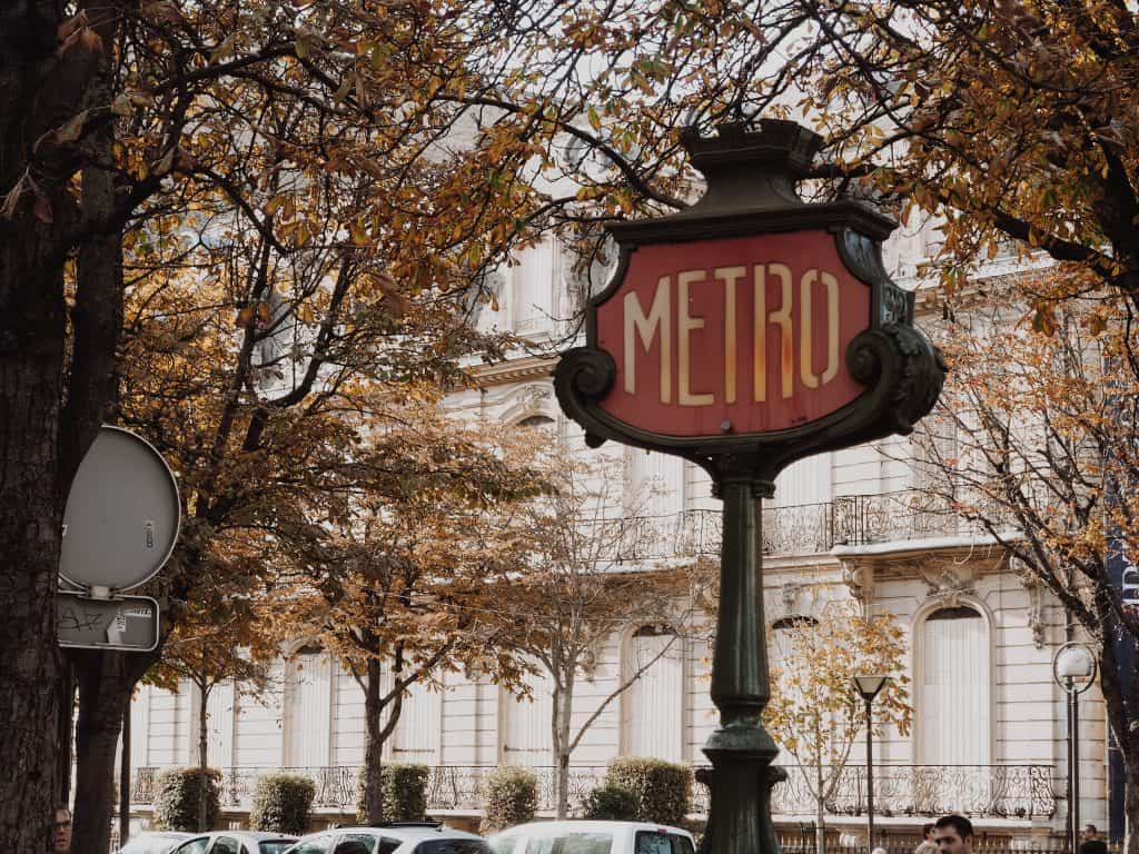 The metro is a great way to get around Paris