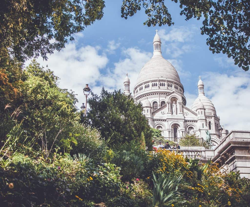 The sacré coeur in Paris is an iconic sight