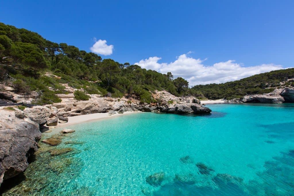 Cala Mitjaneta in Menorca