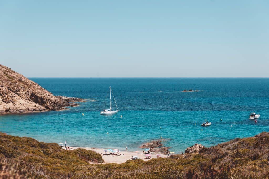 Sa Mesquida beach in Menorca, Spain