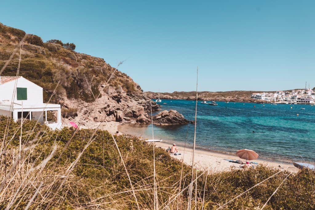 Cala en Vidrier in Menorca, Spain