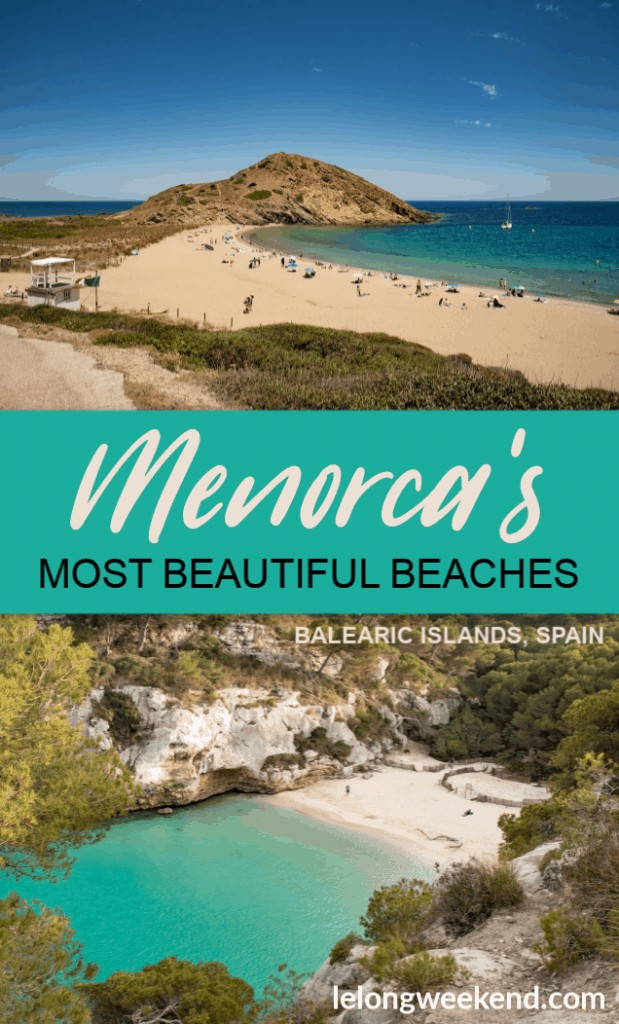 Menorca is an island destination lined with some of the most beautiful beaches in Europe, if not the world! And many of them are totally unspoiled by development. Find these incredible beaches in Menorca, Spain by following our thorough guide. #Menorca #spain #balearicislands