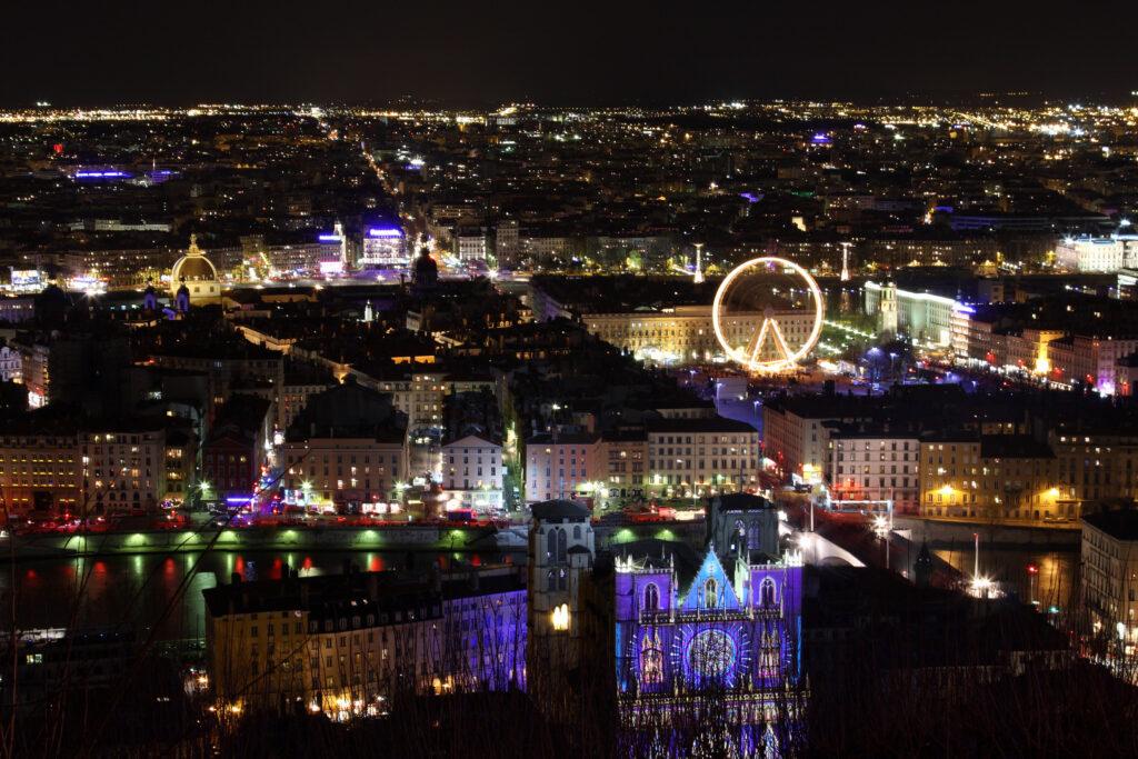 Lights festival in Lyon,France