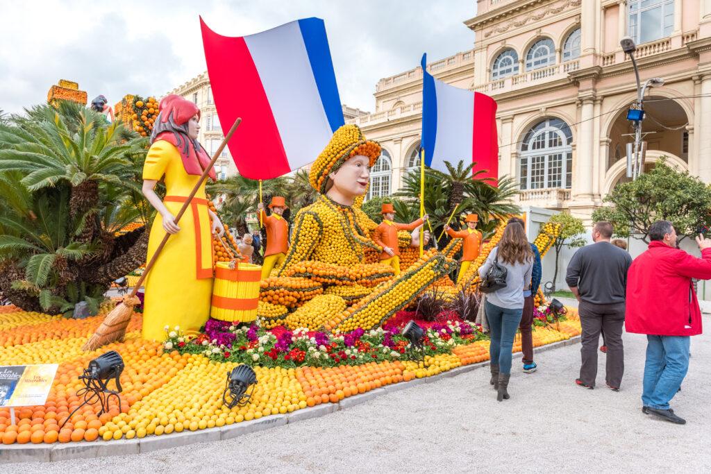 Menton Lemon festival in France