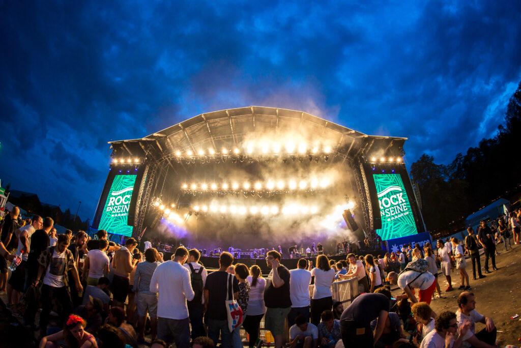 Rock en Seine music festival Paris France
